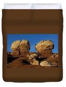 Twin Rocks Capitol Reef National Park Utah Duvet Cover