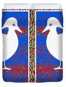 Twin Souls Love Birds Snow White Color Duvet Cover