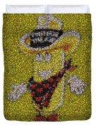 Twinkie The Kid Bottle Cap Mosaic Duvet Cover