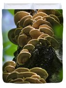 Twist Of Shrooms Duvet Cover by Christina Rollo