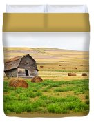 Twisted Barn On Canadian Prairie, Big Duvet Cover