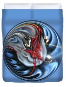 Twisted Clown Orb Duvet Cover