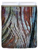 Twisted Colourful Wood Duvet Cover