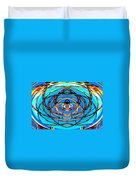 Heart In Blues Duvet Cover