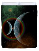 Two Alien Planets In A Distant Part Duvet Cover