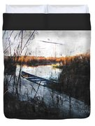 Two At The Dock Duvet Cover