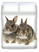 Two Baby Bunny Rabbits Duvet Cover