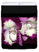 Two Baby Orchids Duvet Cover