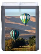 Two Balloons In Morning Sunshine Duvet Cover