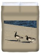 Two Barnacle Geese Duvet Cover