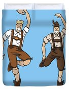 Two Bavarian Lederhosen Men Duvet Cover by Frank Ramspott