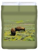 Two Bison Duvet Cover