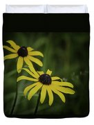 Two Black Eyes On The Macomb Orchard Trails Duvet Cover