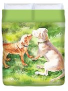 Two Brothers Labradors Duvet Cover