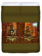 Two Buddhas Duvet Cover