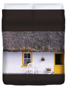 Two Chairs Outside A Cottage, County Duvet Cover