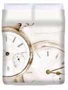Two Clocks Duvet Cover