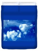 Two Clouds In The Sky Duvet Cover
