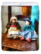 Two Colonial Rag Dolls Duvet Cover
