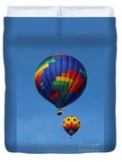 Two Colorful Balloons Duvet Cover