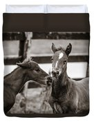 Two Colts Duvet Cover