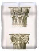 Two Column Capitals Duvet Cover