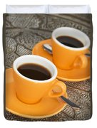 Two Cups Of Espresso Duvet Cover