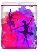 Two Dancing Ballerinas 3 Duvet Cover