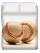 Two Dirty Baseballs Duvet Cover by Darren Greenwood