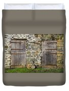 Two Doors On A Barn Duvet Cover