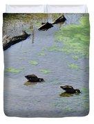 Two Eating Ducks Duvet Cover