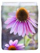 Two Echinacea Duvet Cover