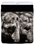 Two Elephants Duvet Cover