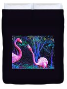 Two Flamingos Duvet Cover