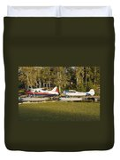 Two Float Planes On Moosehead Lake Near Greenville Maine  Duvet Cover