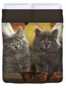Two Fluffy Kittens Duvet Cover