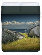 Two Forlorn Abandoned Boats On Prince Edward Island Duvet Cover