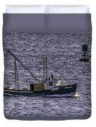Two Girls And A Buoy Duvet Cover