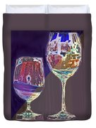 Two Glasses  Duvet Cover