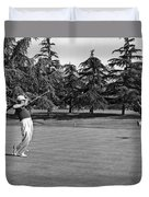 Two Golfers Body English Duvet Cover