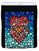 Two Hearts - Mosaic Art By Sharon Cummings Duvet Cover