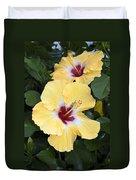 Two Hibiscus Duvet Cover