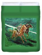 Two Horse Race Duvet Cover