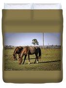 Two Horses Duvet Cover