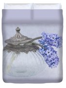 Two Hyacinth Flowers Duvet Cover
