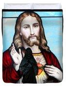 Two Jesuses Duvet Cover