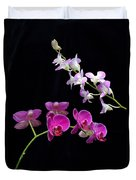 Two Kind Of Orchid Flower Duvet Cover