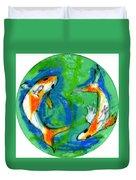 Two Koi Fish Duvet Cover