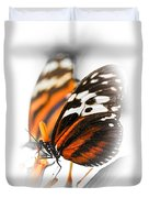 Two Large Tiger Butterflies Duvet Cover