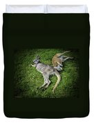 Two Lazy Kangaroos Lying Down Duvet Cover